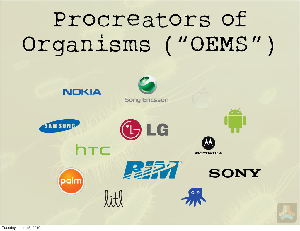 "Procreators of Organisms (""OEMS"") Tuesday, June..."
