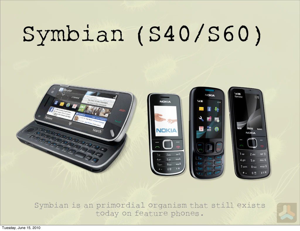 Symbian (S40/S60) Symbian is an primordial orga...
