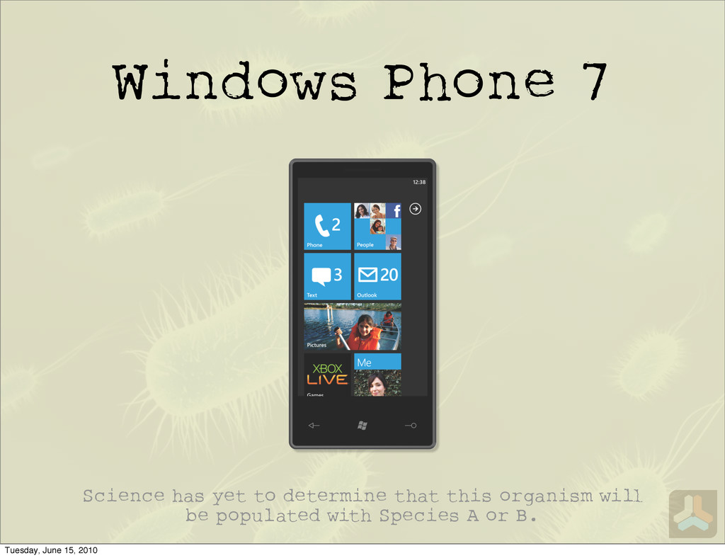 Windows Phone 7 Science has yet to determine th...
