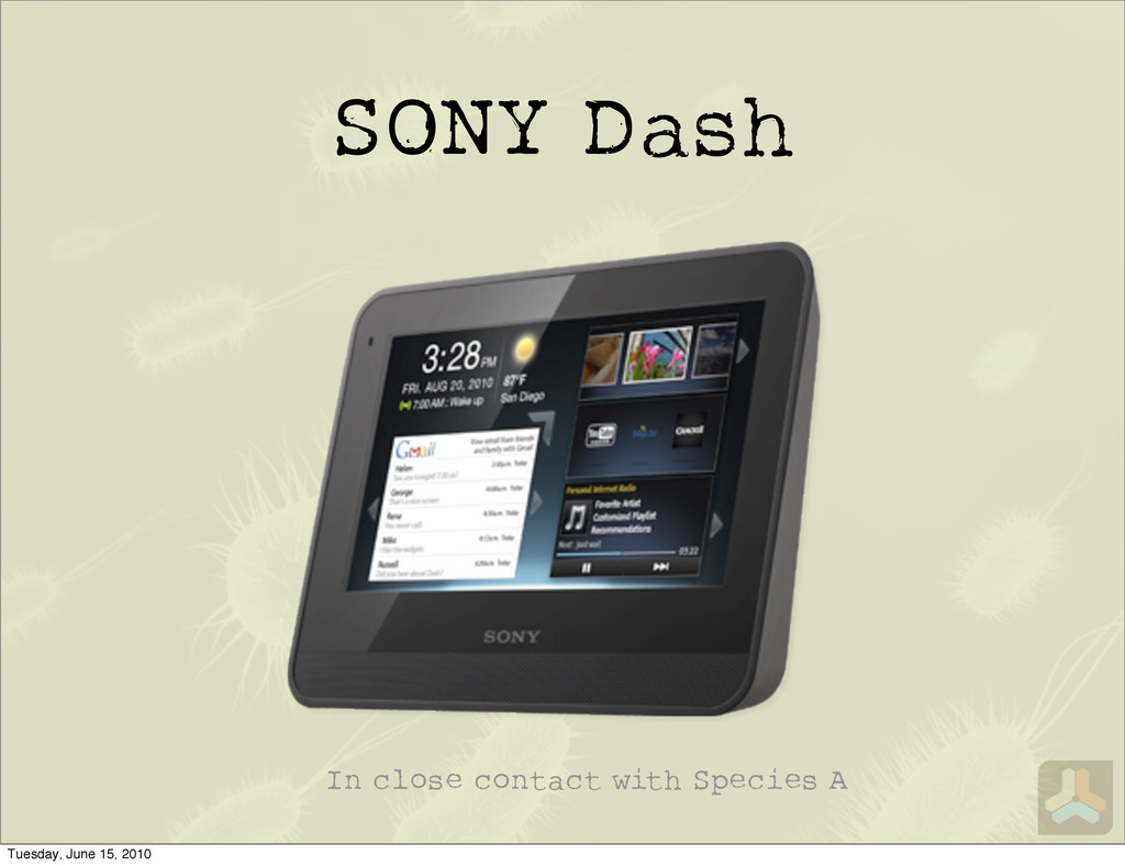 SONY Dash In close contact with Species A Tuesd...