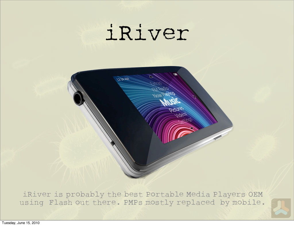 iRiver iRiver is probably the best Portable Med...