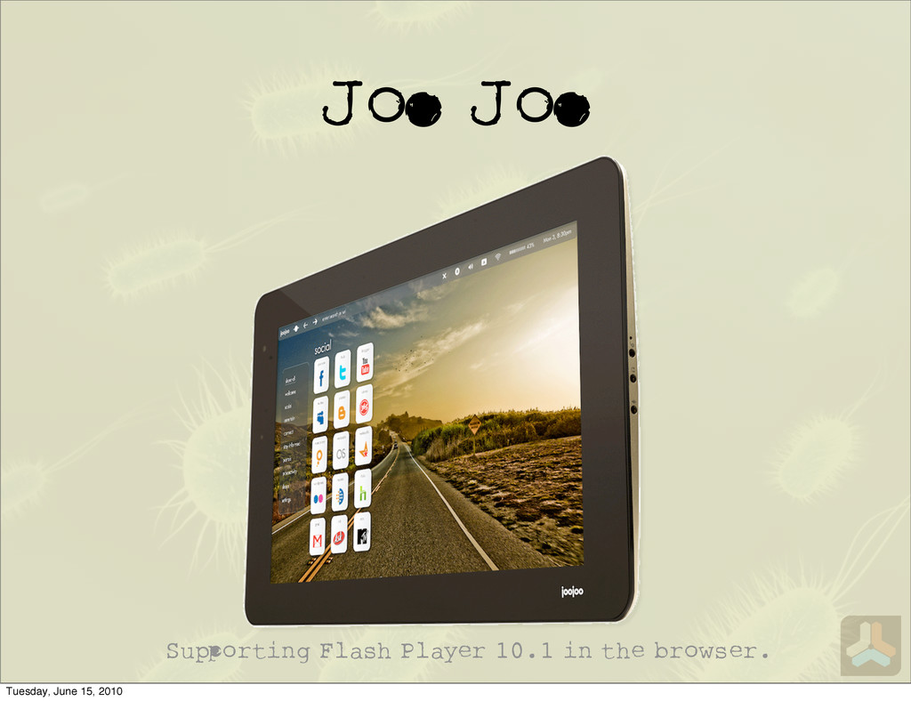 J J Su orting Flash Player 10.1 in the browser....