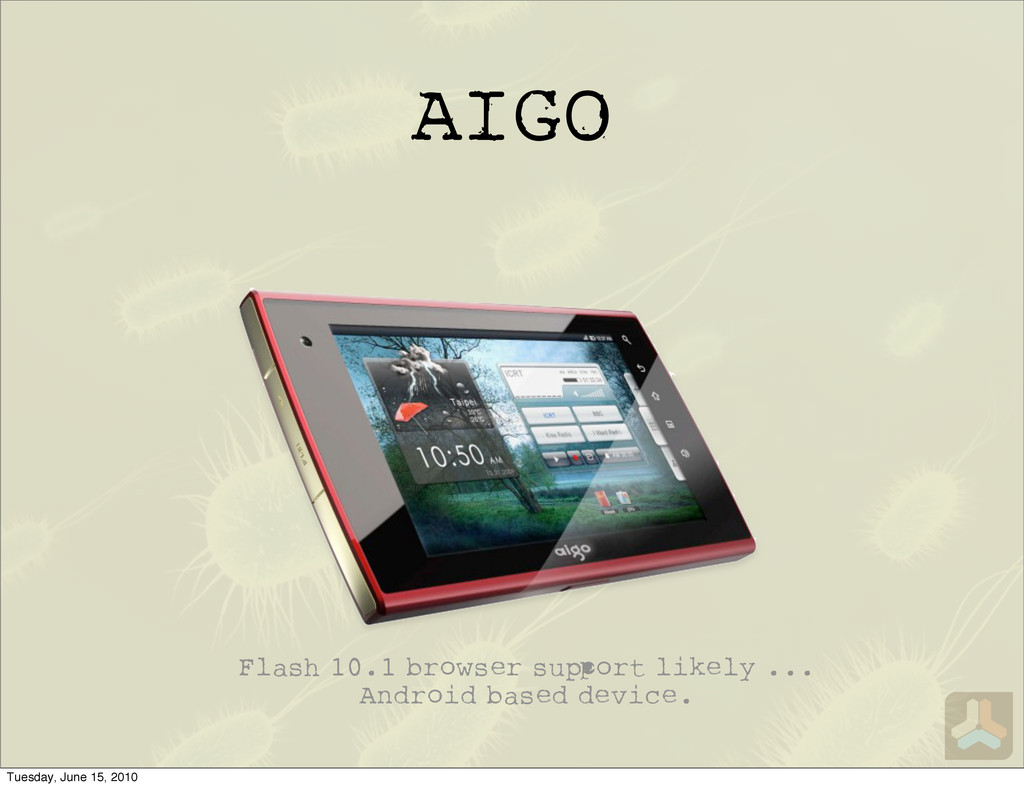AIGO Flash 10.1 browser su ort likely ... Andro...