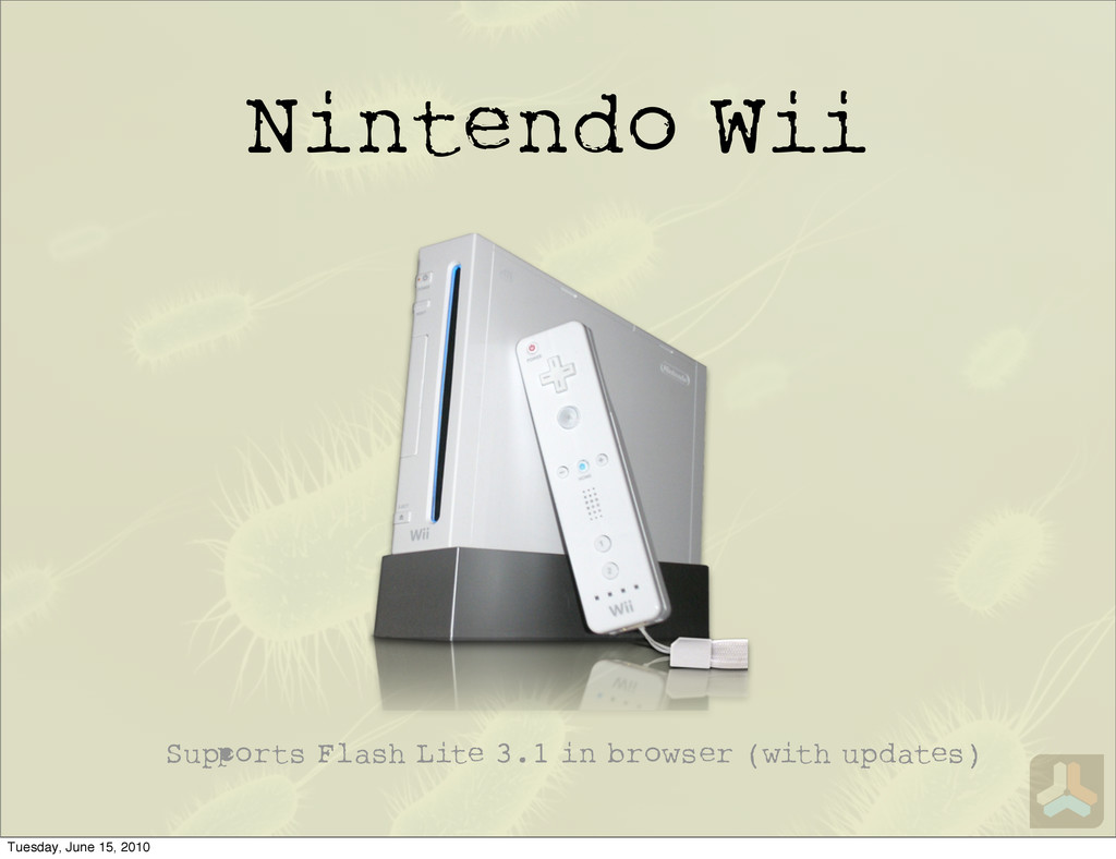 Nintendo Wii Su orts Flash Lite 3.1 in browser ...