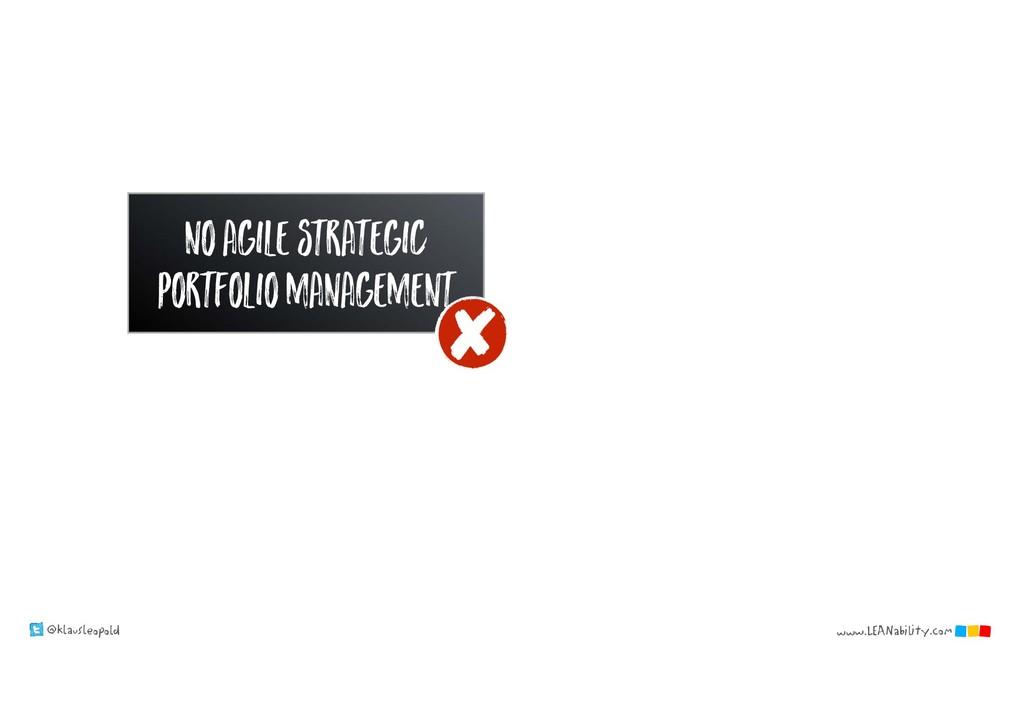 @klausleopold www.LEANability.com no agile stra...