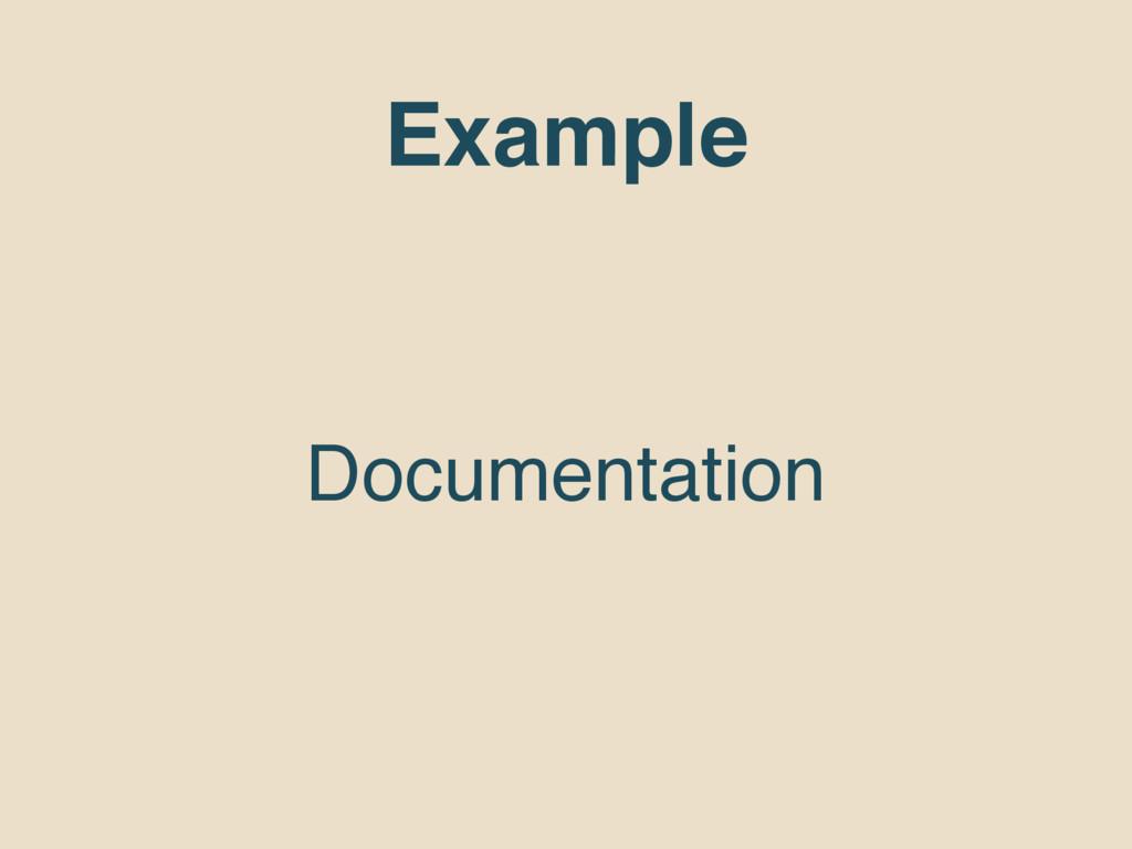 Example Documentation