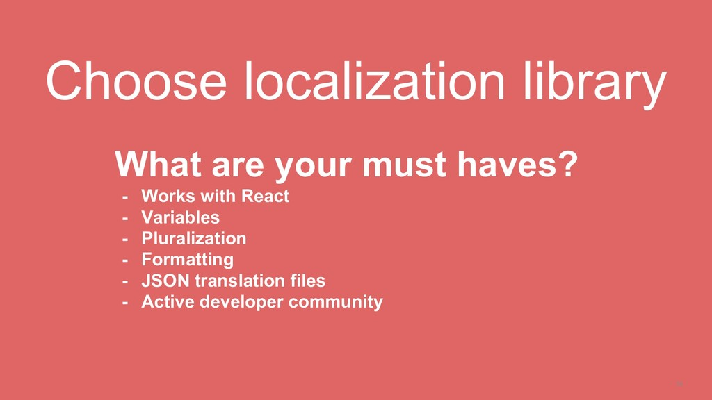 19 Choose localization library What are your mu...