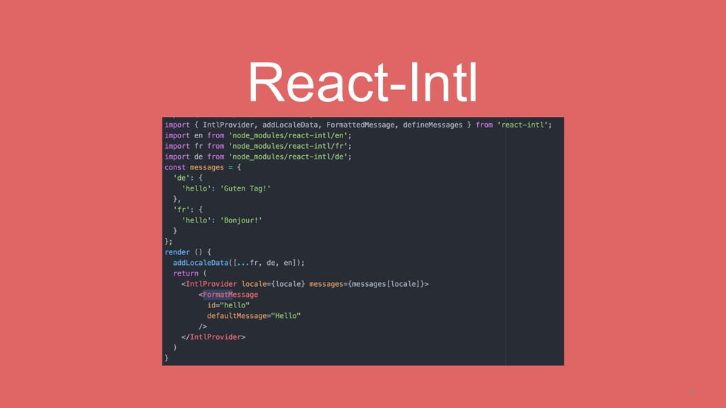 21 React-Intl