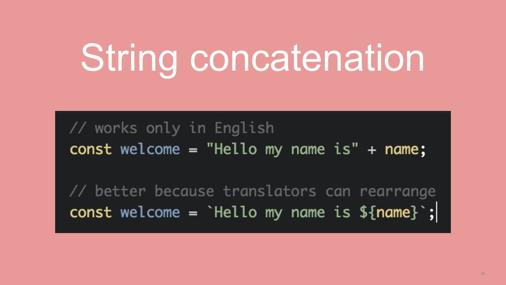 30 String concatenation