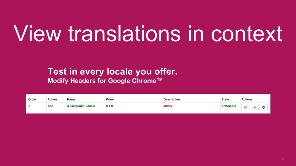 33 View translations in context Test in every l...