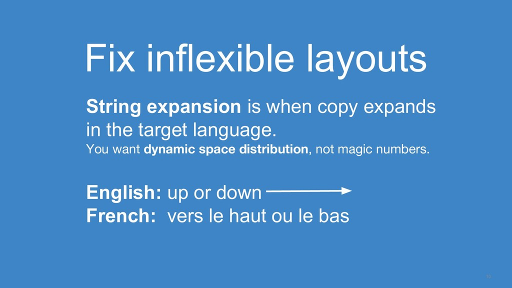 10 Fix inflexible layouts String expansion is w...