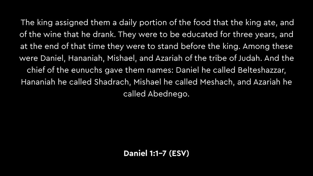 The king assigned them a daily portion of the f...