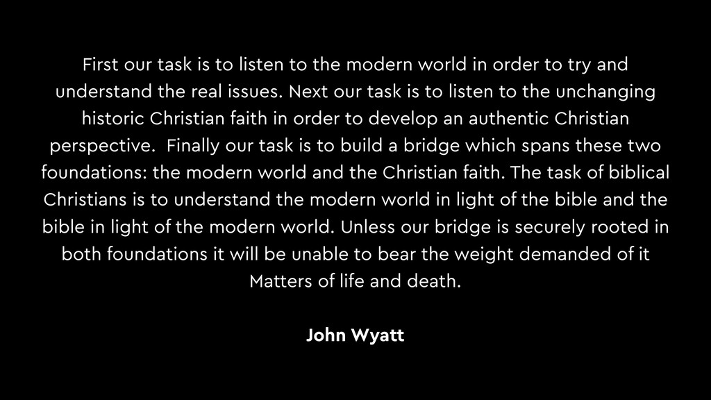 First our task is to listen to the modern world...
