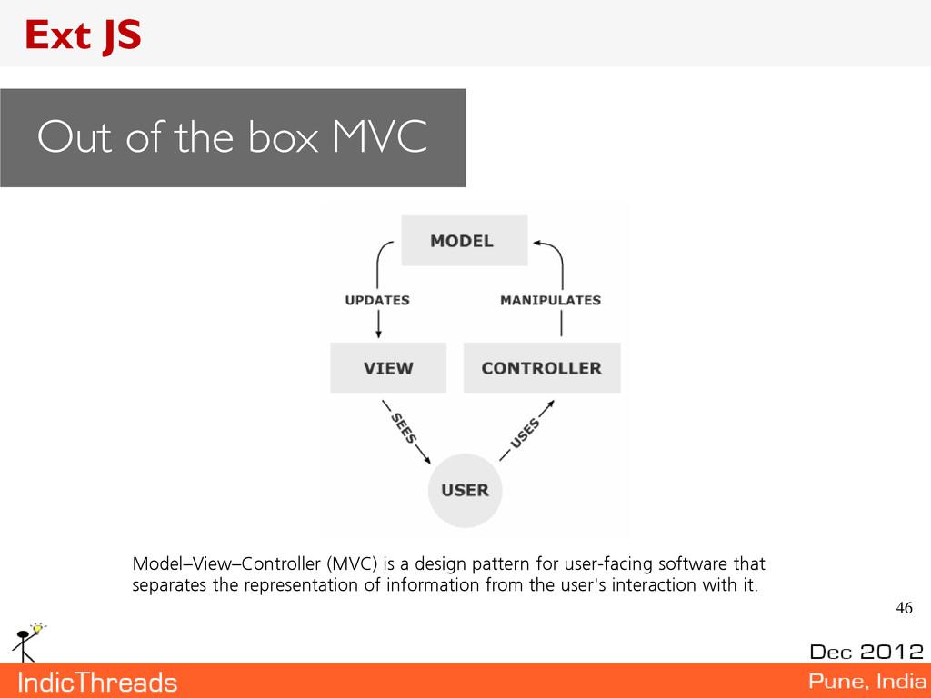 46 Model–View–Controller (MVC) is a design patt...