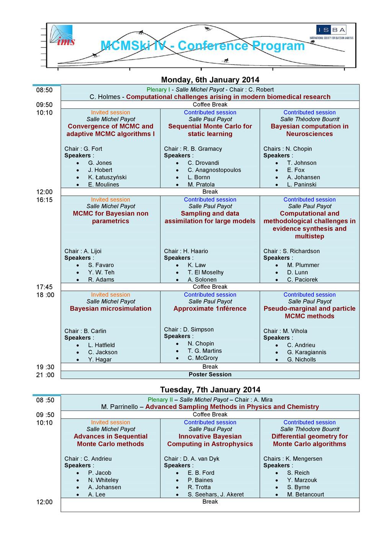 Monday, 6th January 2014 08:50 Plenary I - Sall...