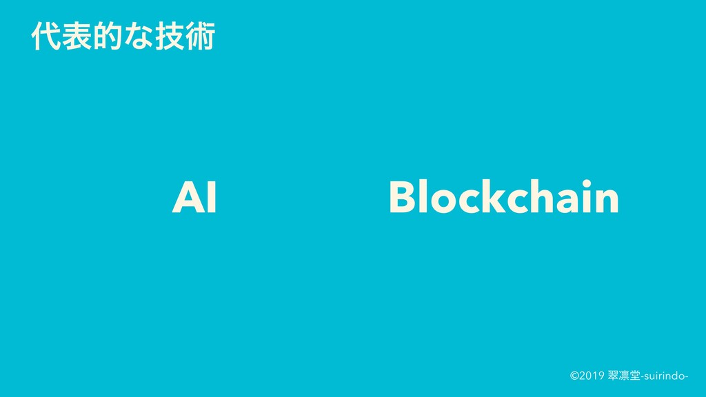 ©2019 ਯ႒ಊ-suirindo- දతͳٕज़ AI Blockchain