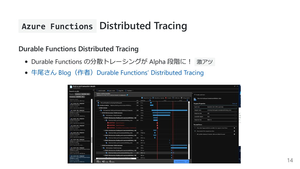 Azure Functions Distributed Tracing Durable Fun...