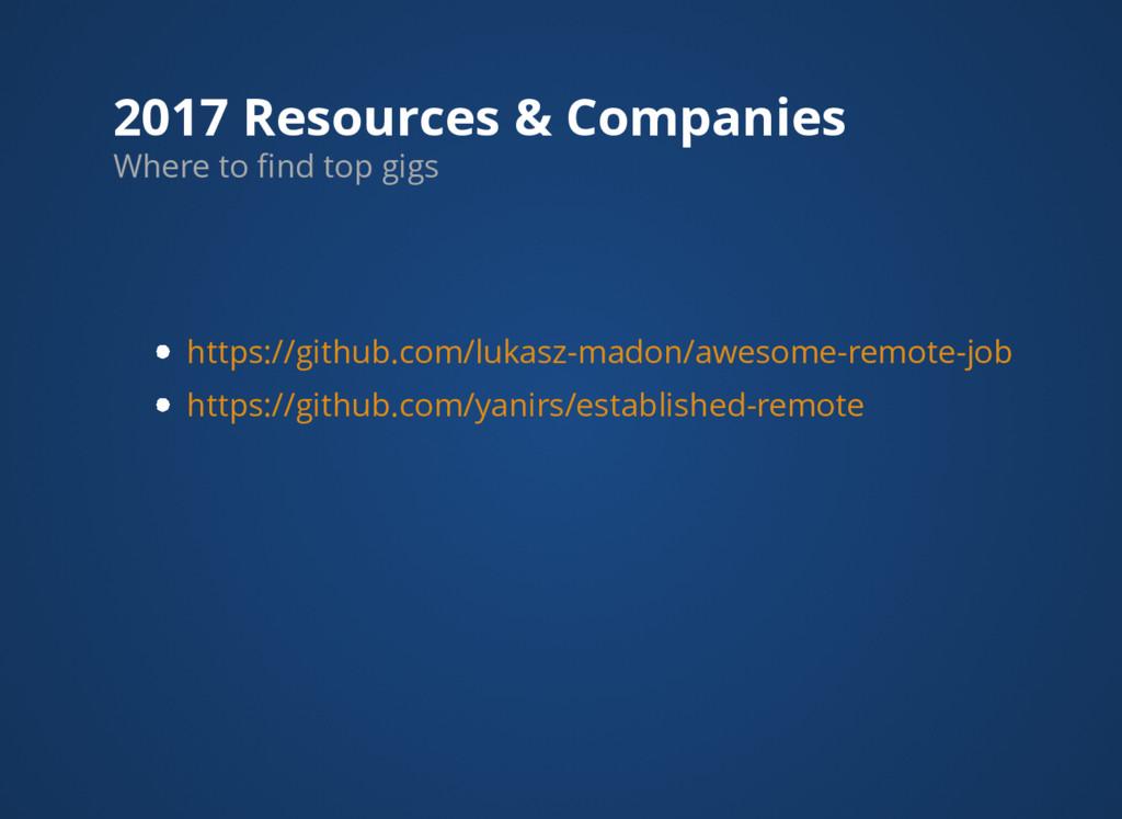 2017 Resources & Companies https://github.com/l...