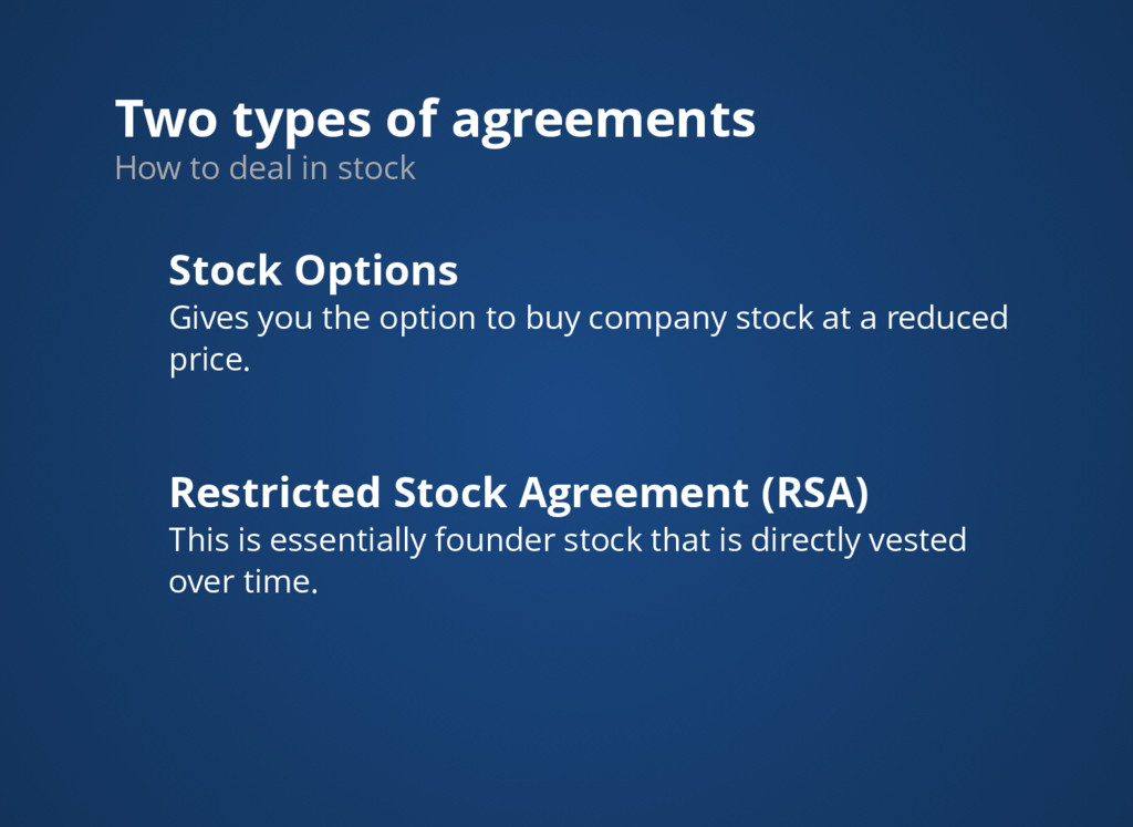 Two types of agreements How to deal in stock St...