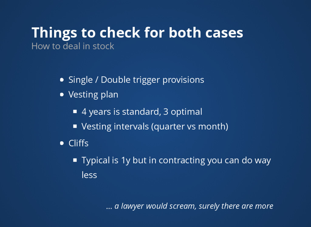 Things to check for both cases How to deal in s...