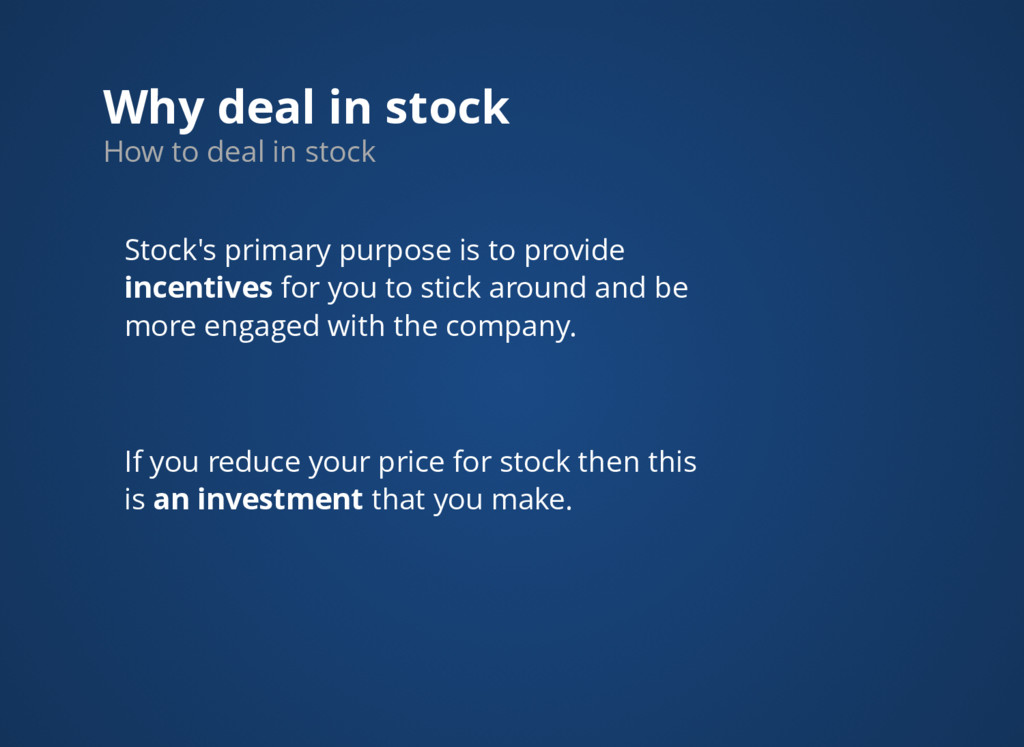 Why deal in stock How to deal in stock Stock's ...