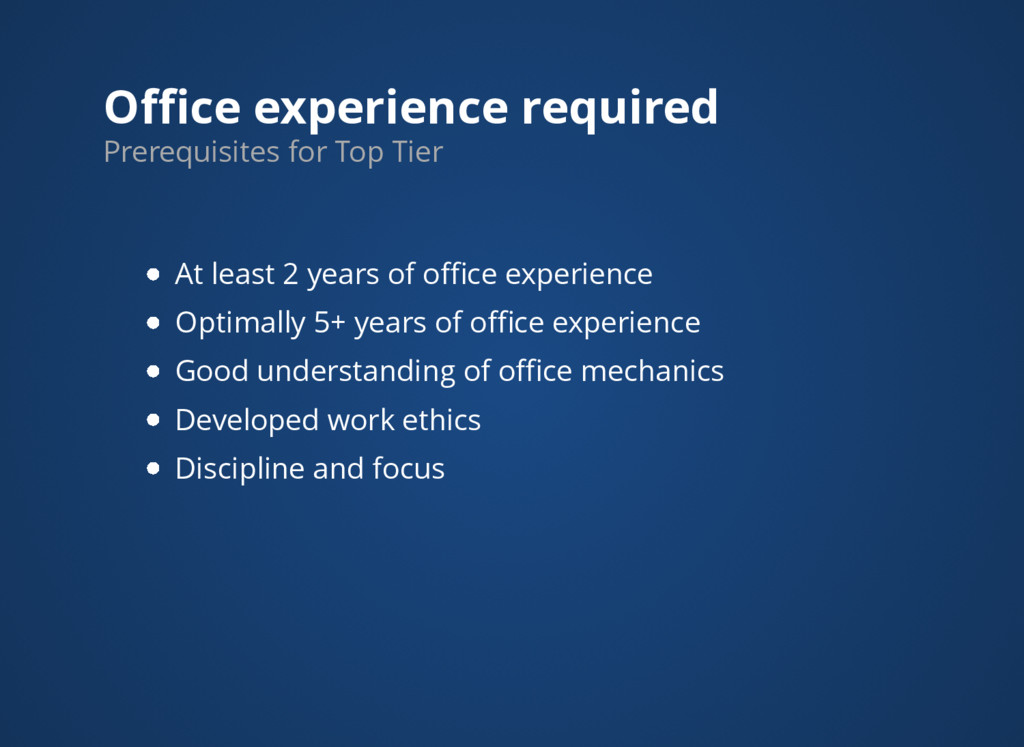 Office experience required At least 2 years of offi...