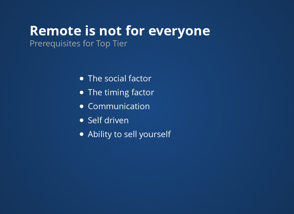 Remote is not for everyone The social factor Th...