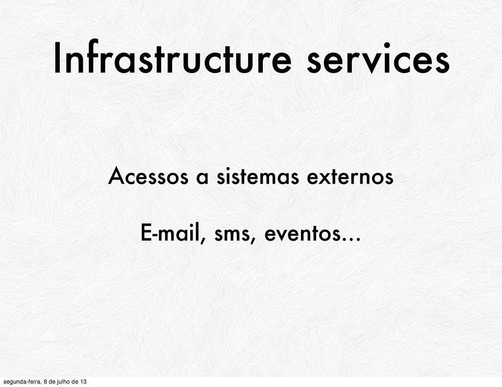 Infrastructure services Acessos a sistemas exte...