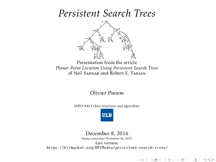 Persistent Search Trees Presentation from the a...