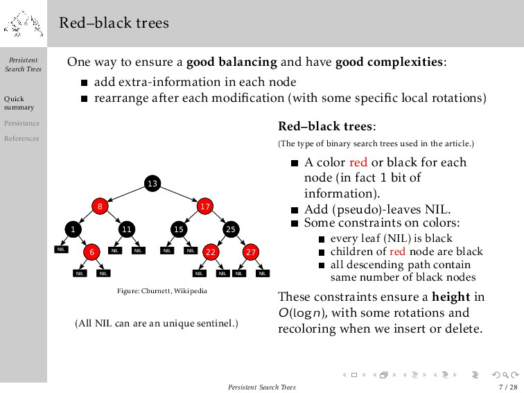 Persistent Search Trees Quick summary Persistan...