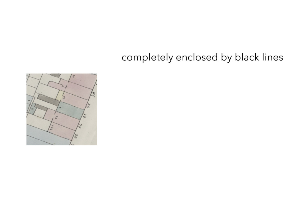 completely enclosed by black lines