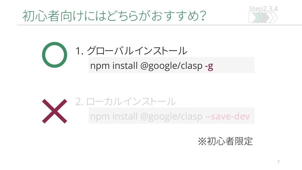 Step2,3,4 初心者向けにはどちらがおすすめ? 7 npm install @googl...