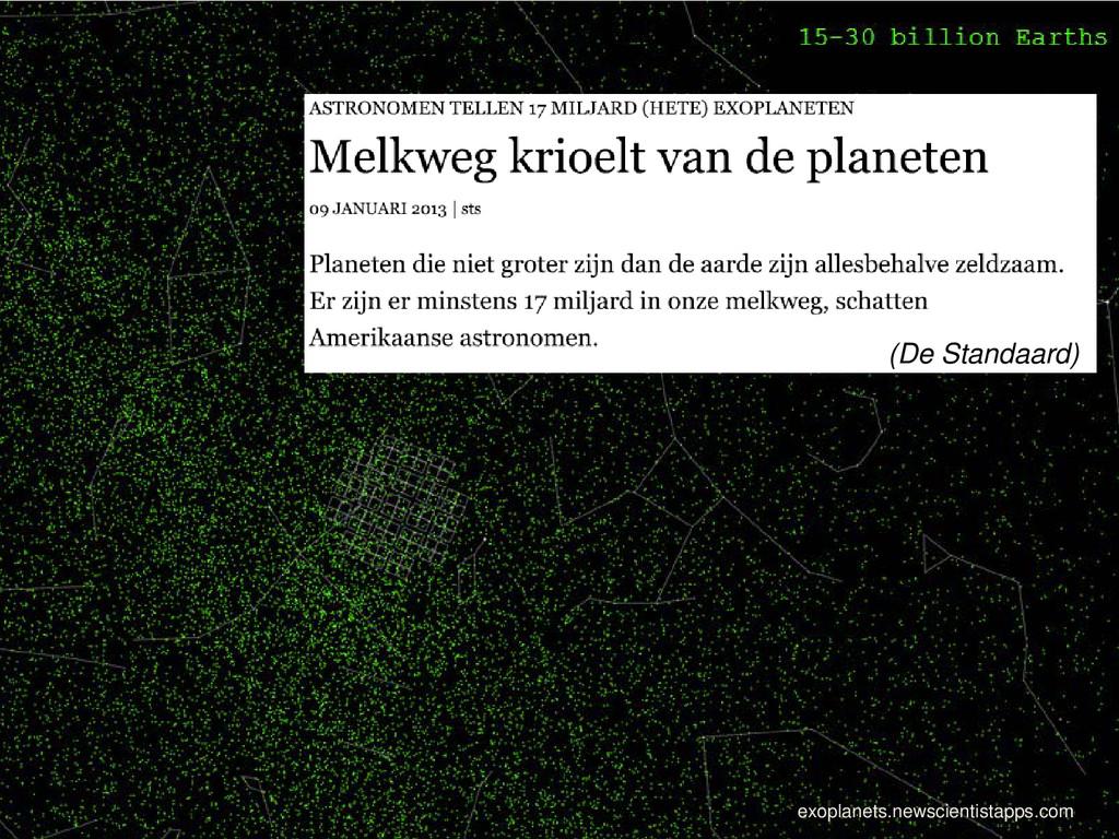 (De Standaard) exoplanets.newscientistapps.com