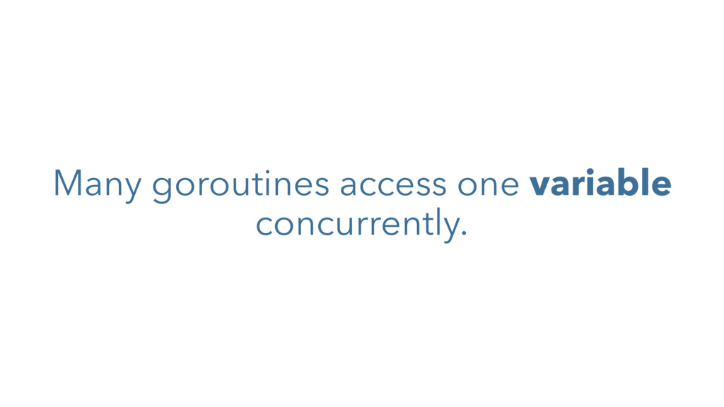 Many goroutines access one variable concurrentl...