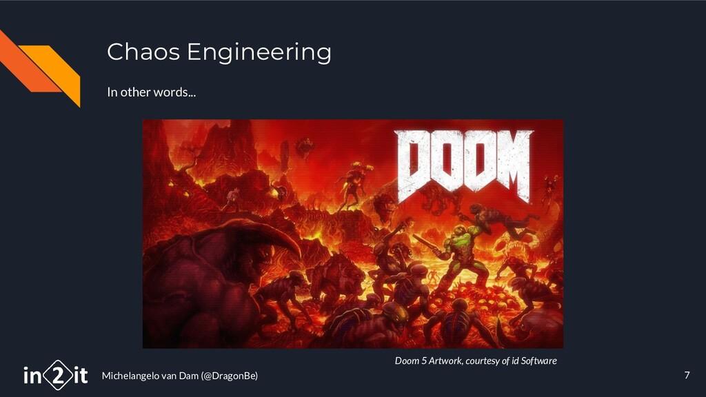 Michelangelo van Dam (@DragonBe) Chaos Engineer...