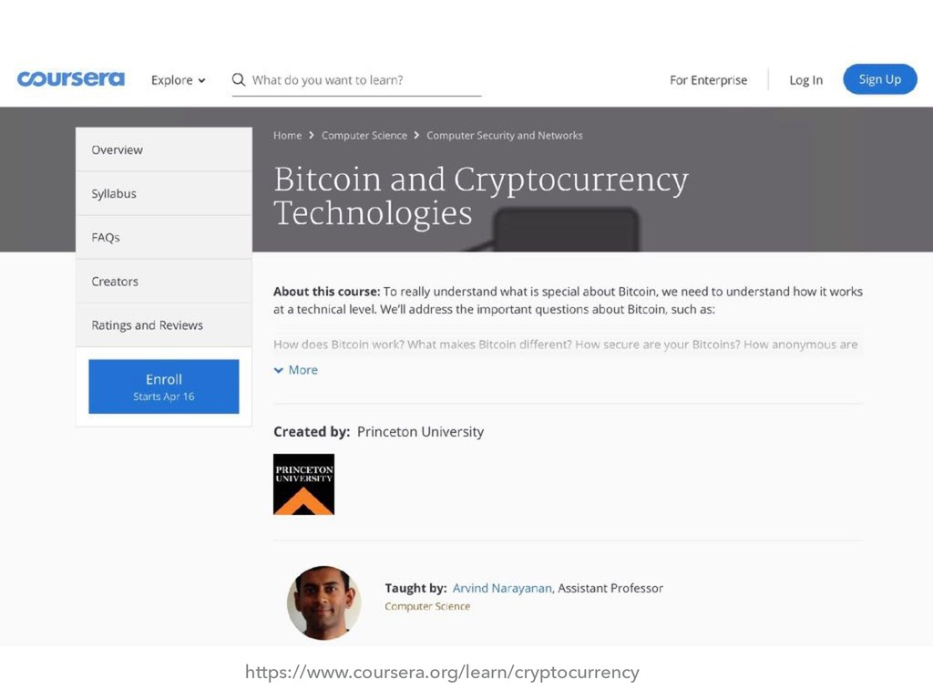 https://www.coursera.org/learn/cryptocurrency