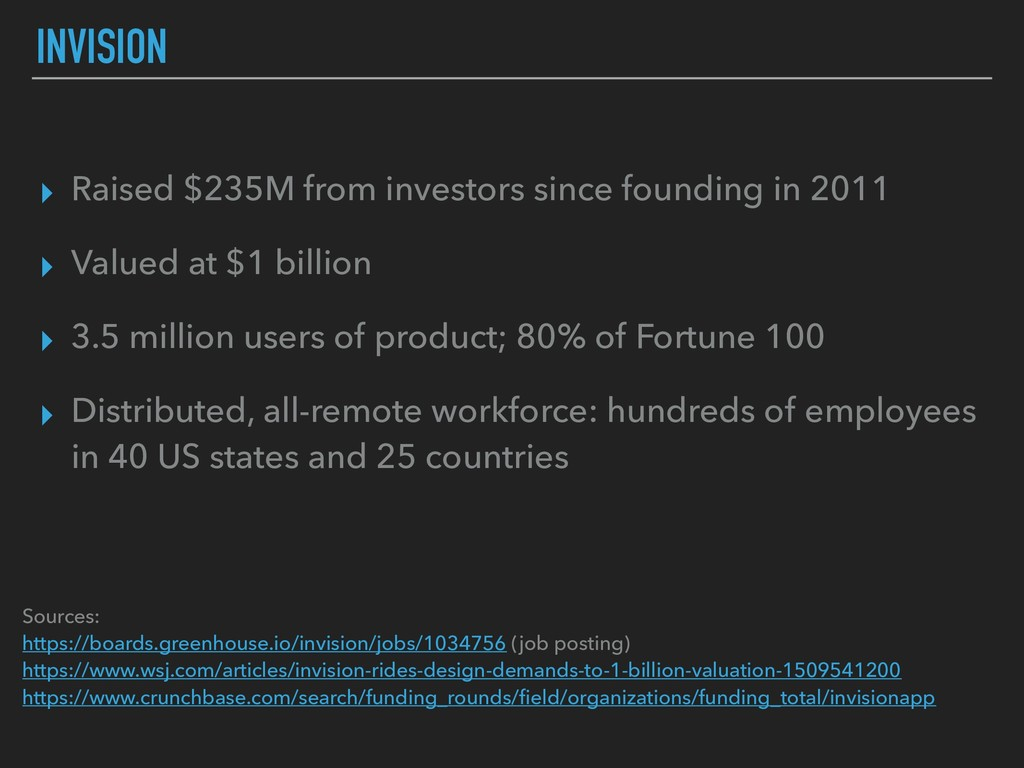 INVISION ▸ Raised $235M from investors since fo...