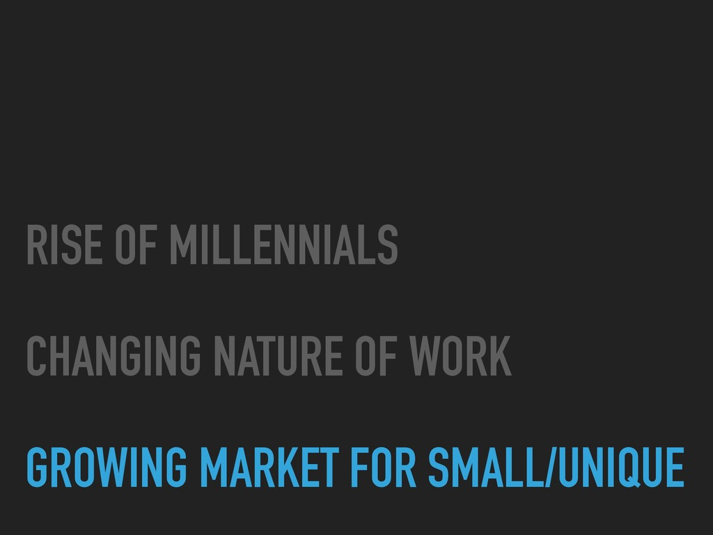 RISE OF MILLENNIALS CHANGING NATURE OF WORK ...