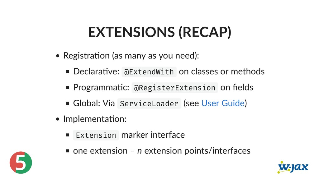 5 EXTENSIONS (RECAP) Registra on (as many as yo...
