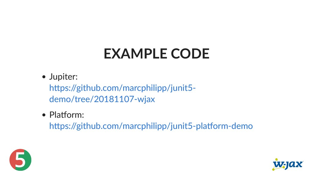5 EXAMPLE CODE Jupiter: Pla orm: h ps:/ /github...