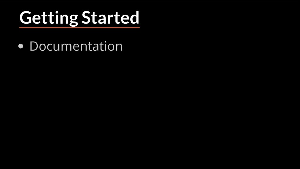 Getting Started Documentation