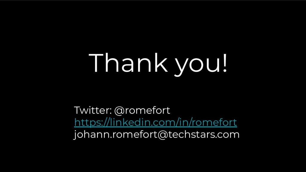 Thank you! Twitter: @romefort https://linkedin....