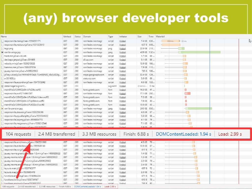 (any) browser developer tools