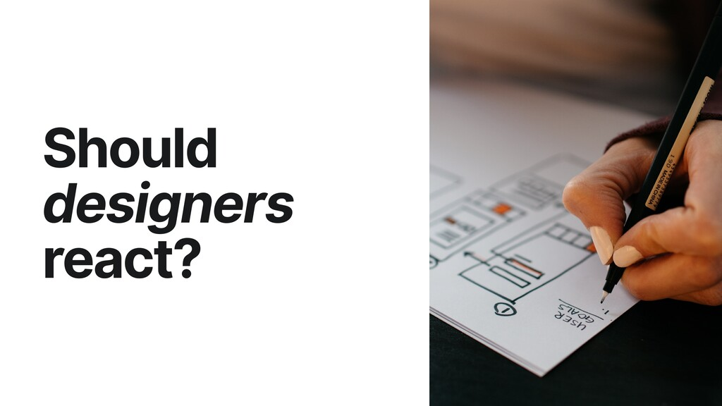 Should designers react?