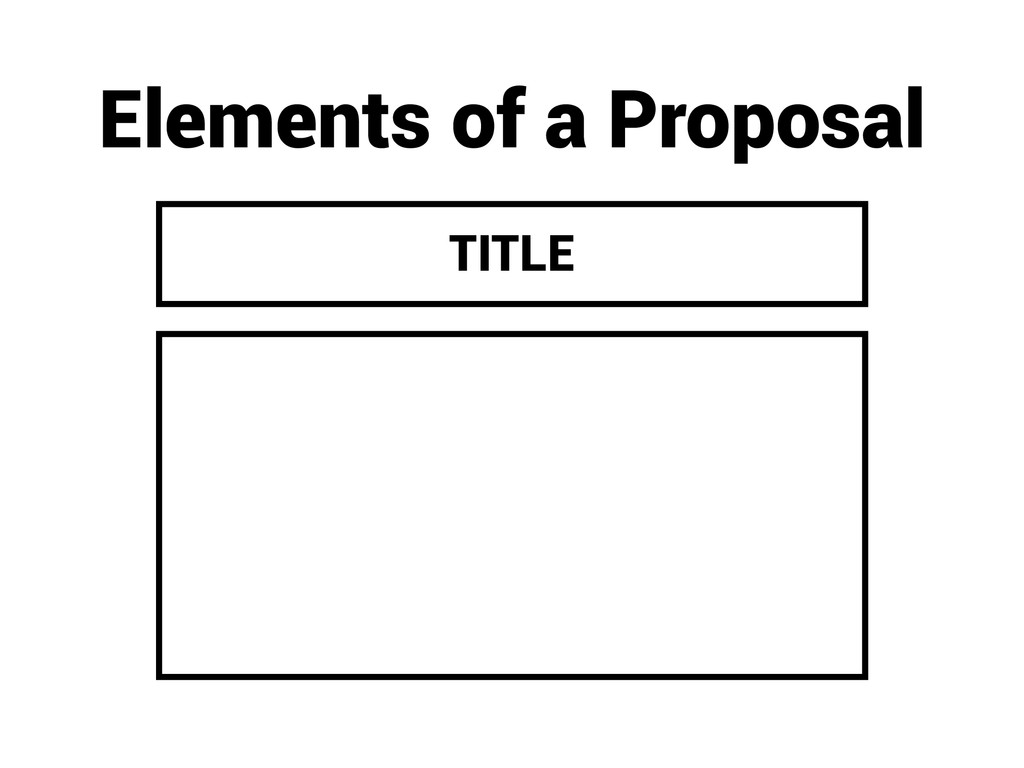 Elements of a Proposal TITLE