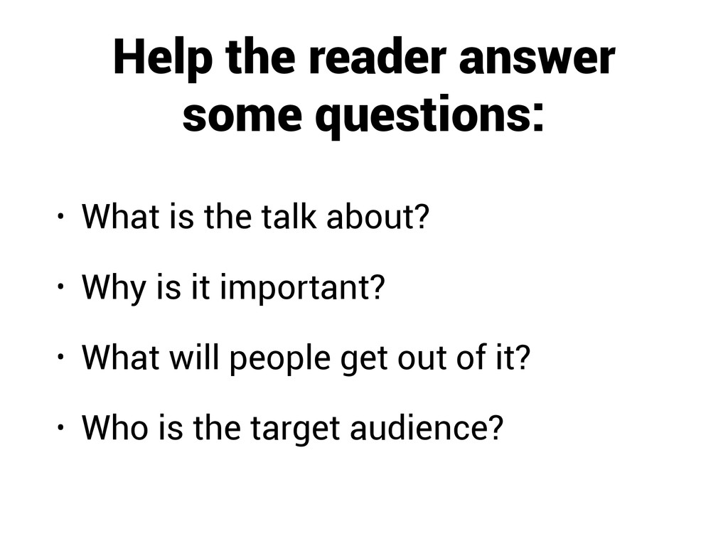 Help the reader answer some questions: • What i...