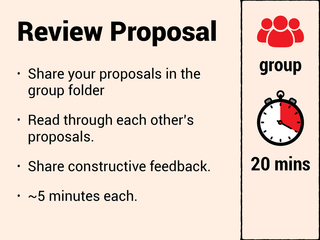 Review Proposal • Share your proposals in the g...