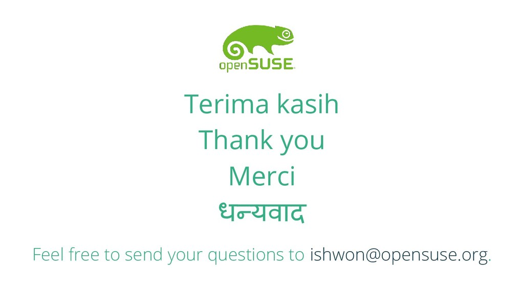 Terima kasih Thank you Merci धन्यवाद Feel free ...