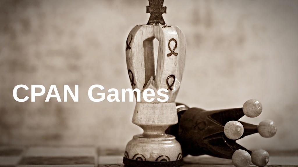 CPAN Games