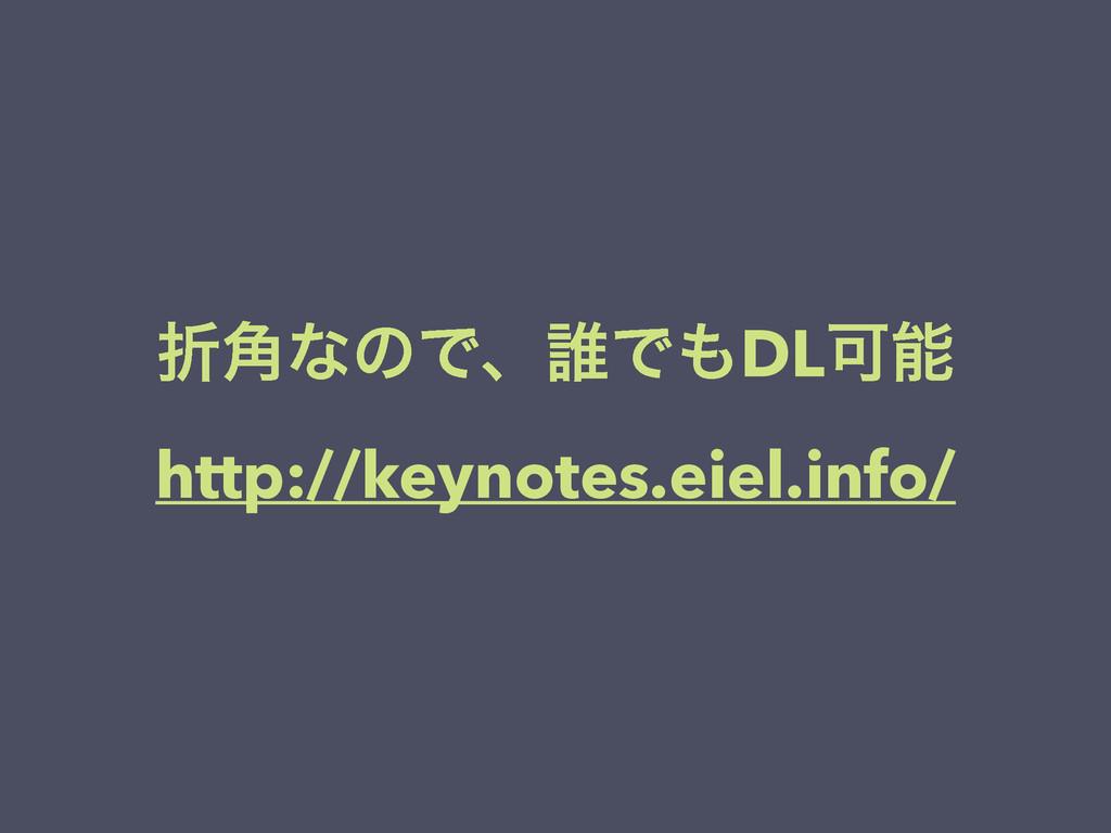 ં֯ͳͷͰɺ୭ͰDLՄ http://keynotes.eiel.info/